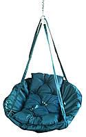 Подвесное кресло садовая качеля Radi Vsi Оксфорд 600 Синий (Диаметр 100 см)