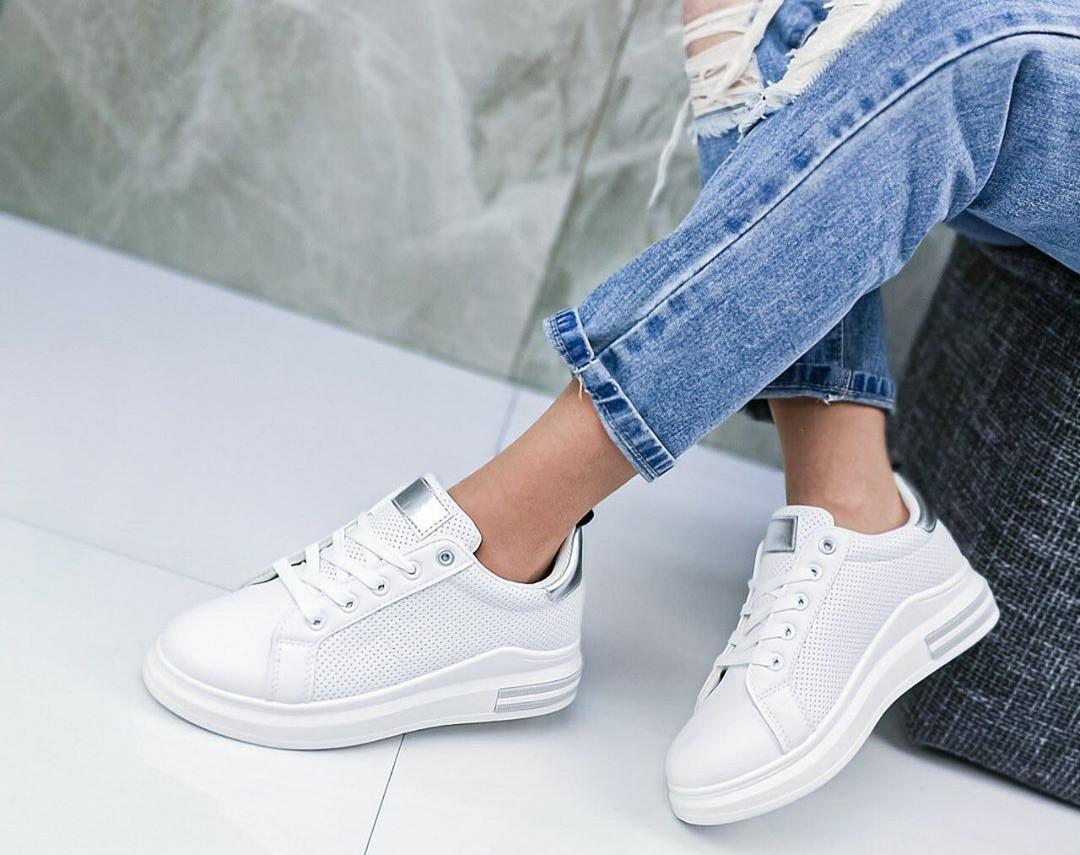 Женские кроссовки с перфорацией на удобной платформе, ОВ 1306ст