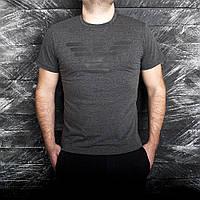 Мужская футболка Armani серая, фото 1