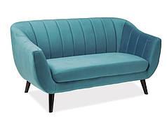 Маленький диван 153 cm./Велюровая мягкая банкетка тиффани Elite 2 Velvet**