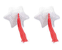 Пэстисы White Star Shape Sequin Pasties 8 см.