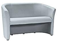 Кожаный стильный диван 126 см., серый для кухни/ гостиной/ кафе/ ресторанов