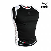 Футболка без рукавов Puma Ferrari черная, фото 1