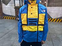 Куртка Supreme x The North Face SteepTech blue-yellow, фото 1