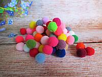 Помпони оксамитові, d 15 мм, колір-мікс, 10 грам (~75 шт)