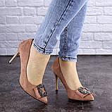 Женские туфли на каблуке Fashion April 1936 36 размер 23,5 см Розовый, фото 3