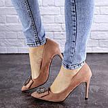 Женские туфли на каблуке Fashion April 1936 36 размер 23,5 см Розовый, фото 4