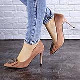 Женские туфли на каблуке Fashion April 1936 36 размер 23,5 см Розовый, фото 6