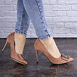 Женские туфли на каблуке Fashion April 1936 36 размер 23,5 см Розовый, фото 7