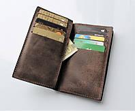 """Мужской кожаный кошелек """"Spazioso"""" 20 отделений для карт, фото 1"""