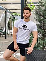 Мужская футболка D&G белая, фото 1