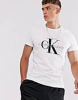 Футболка белая Calvin Klein большой принт, фото 1
