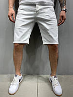 Шорты джинсовые белые рваные 18237, фото 1