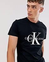 Футболка черная Calvin Klein большой принт, фото 1