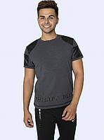 Мужская футболка Philipp Plein серая, фото 1