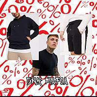 Летний набор DNK MAFIA №1 Худи черное, футболка черная, шорты черные, фото 1