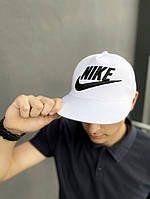 Тракер кепка Nike белый Большой логотип, фото 1