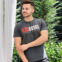 Мужская футболка Diesel темно-серая