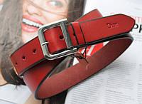 Женский кожаный ремень Dior красный, фото 1
