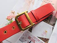 Женский ремень Dior экокожа красный, фото 1
