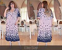 Летнее женское платье для полных женщин размеры 66.68.70.