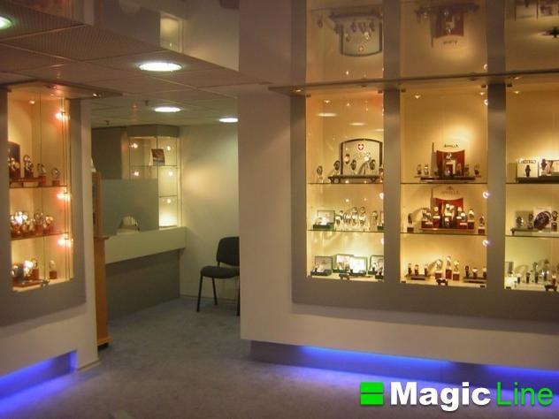 Оборудование для магазина часов, торговая мебель изготовить, витрины и прилавки