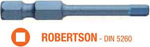 Насадка отверточная ударная BLUE SHOCK USH TORSION ROBERTSON R1 x 50 мм 5 шт