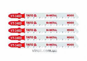 Пильное полотно для электролобзика (дерево, сталь) YATO Bi-Metal 6TPI 100 мм 5 шт