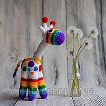 """В'язана іграшка """"Райдужний жираф"""""""