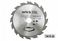 Диск пильный по дереву YATO 140 х 20 х 2.8 х 2 мм 16 зубцов R.P.M до 10000 1/мин