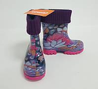 Резиновые сапоги детские Twister Lux Print павлин