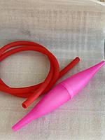 Комплект шланг софт тач + базука супергель   Комплект для кальяна летний розовый
