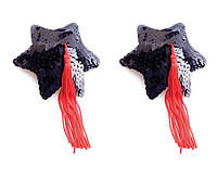 Пэстисы Black Star Shape Sequin Pasties 8 см.