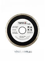 Диск отрезной алмазный для мокрой резки YATO 115 x 2.1 x 5.3 x 22.2 мм