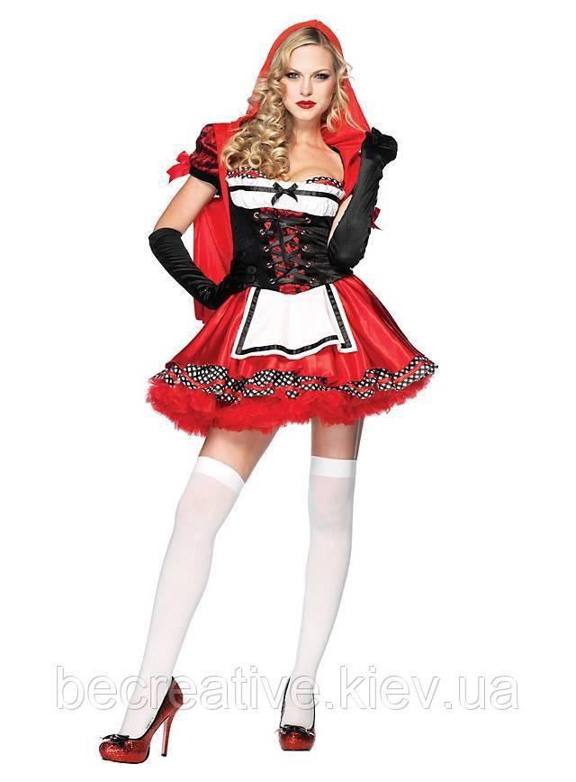 Женский карнавальный костюм милой Красной Шапочки