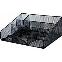 Подставка настольная черная металл, 7 отделений, BuroMAX