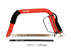Пила лучковая по дереву и металлу YATO 300 мм