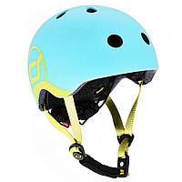 Шлем защитный детский Scoot and Ride, голубика, с фонариком, 45-51 см ХS-S (SR-181206-BLUEBERRY)