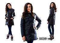 Куртка женская удлиненная осенняя 0039 Нал (только М (44) черный)