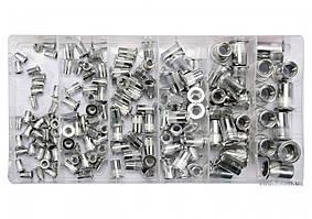 Нитогайки алюминиевые YATO М3-М10 мм 150 шт