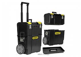 Ящик для инструментов на колесах STANLEY Mobile WorkCenter 47.5 х 28.4 х 57 см 3 секции