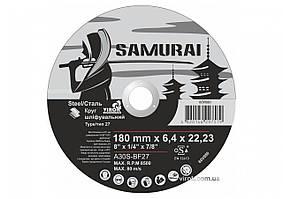Круг шлифовальный по металлу A30S-BF27 SAMURAY ТМ VIROK Ø=180х22.23 мм t=6.4 мм