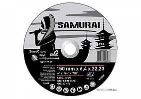 Круг шлифовальный по металлу A30S-BF27 SAMURAY ТМ VIROK Ø=150х22.23 мм t=6.4 мм