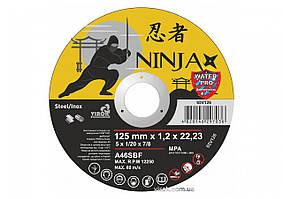 Диск отрезной по металлу и нержавеющей стали NINJA ТМ VIROK Ø=125х22.23 мм t=1.2 мм
