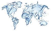 """Интерьерная карта """"Всплески воды"""""""