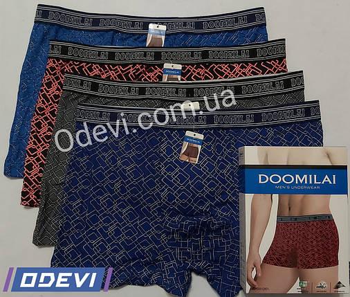 Мужские трусы хлопок с бамбуком фирмы Doomilai на спорт резинке, фото 2