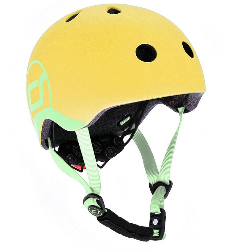 Шлем защитный детский Scoot and Ride, лимон, с фонариком, 45-51 см (SR-181206-LEMON)