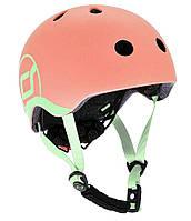 Шлем защитный детский Scoot and Ride, персик, с фонариком, 51-55см S-M (SR-190605-PEACH)