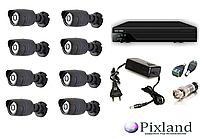 HDCVI Комплект видеонаблюдения interVision 1 МП. 8 камер CVI-720W, видеорегистратор CVR-8