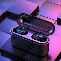 ПоверБанк + Беспроводные наушники Bluetooth HBQ Q32 Black. Супер басс! Цвет черный
